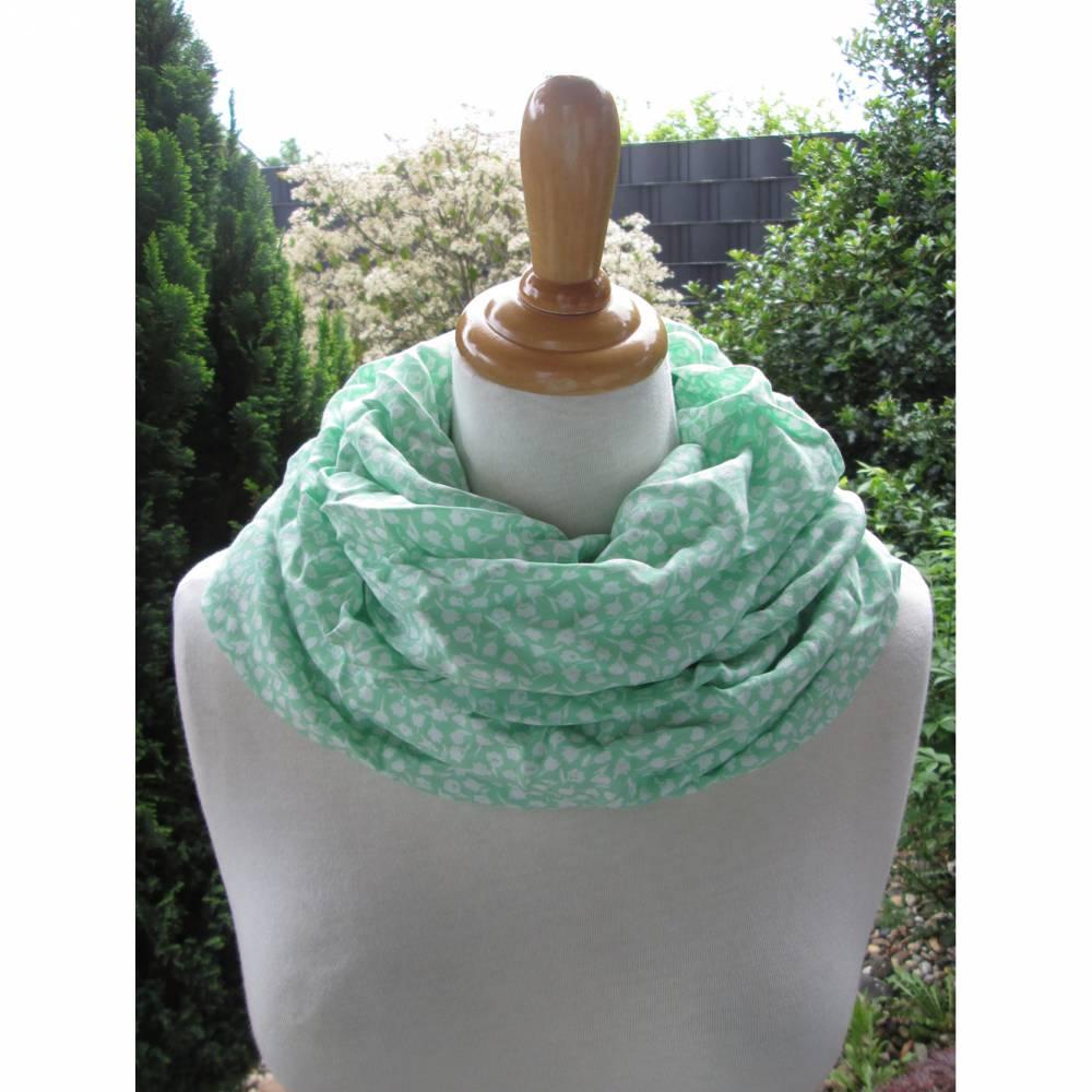 MILLEFIORI leichter XL Schal aus Viskose Blümchen Farbwahl Bild 1