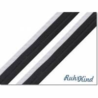 Paspelband - Reflektierend - Silber Schwarz Bild 1