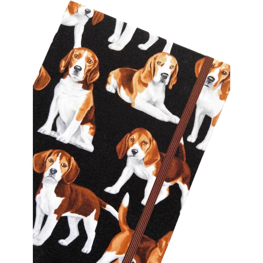 """Notizbuch """"Beagle"""" A5 Hardcover stoffbezogen Stoff Hund Geschenk Hundebesitzer Beaglefan Beagleliebhaber  Bild 1"""