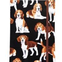 """Notizbuch """"Beagle"""" A5 Hardcover stoffbezogen Stoff Hund Geschenk Hundebesitzer Beaglefan Beagleliebhaber  Bild 2"""