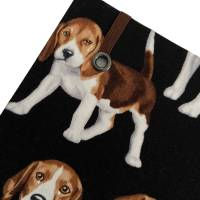 """Notizbuch """"Beagle"""" A5 Hardcover stoffbezogen Stoff Hund Geschenk Hundebesitzer Beaglefan Beagleliebhaber  Bild 4"""