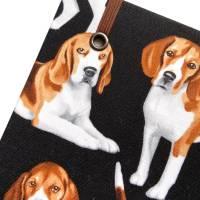 """Notizbuch """"Beagle"""" A5 Hardcover stoffbezogen Stoff Hund Geschenk Hundebesitzer Beaglefan Beagleliebhaber  Bild 5"""