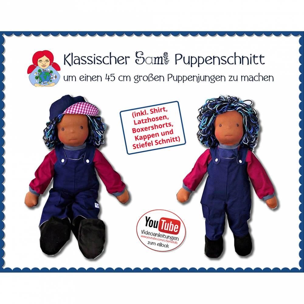 45 cm Puppenjunge Waldorfpuppe selber machen • Schnitt & Anleitung PDF | Sami Dolls eBooks Bild 1