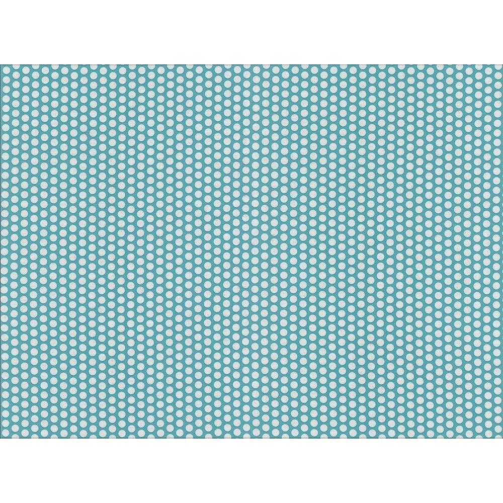 14,00 Euro/m Laminierte Baumwolle Fresh Dots helltürkis Bild 1