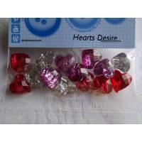 Dress it up Buttons  Herzen   (1 Pck.)   Hearts Desire Bild 1