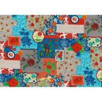 16,00 Euro/m beschichtete Baumwolle Flower Patchwork Bild 1