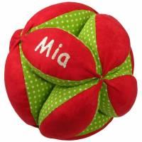personalisierter Greifball mit Rassel Bild 1