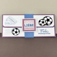 Geschenkverpackung für Fußball-Tickets Weihnachten Gutscheinhülle Bild 1