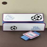 Geschenkverpackung für Fußball-Tickets Weihnachten Gutscheinhülle Bild 2
