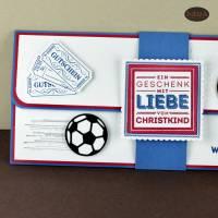 Geschenkverpackung für Fußball-Tickets Weihnachten Gutscheinhülle Bild 3