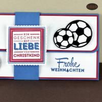 Geschenkverpackung für Fußball-Tickets Weihnachten Gutscheinhülle Bild 4