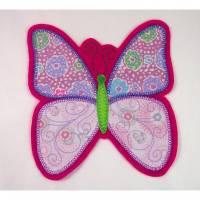 Große Schmetterling Applikation, Aufnäher oder Aufbügler Bild 1