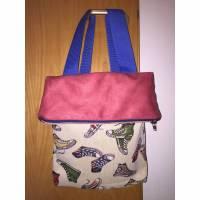 Rucksack Rucksackbeutel  SNEAKER Foldover Tasche * Einzelstück *  Bild 1