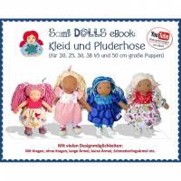 Kleid und Pluderhose in 6 Größen für Waldorfpuppen • Schnitt & Anleitung PDF | Sami Dolls eBooks Bild 1