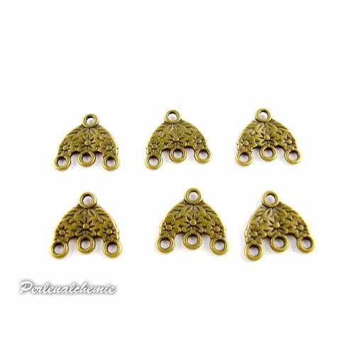 Filigrane Verbinder für Ohrringe bronziert