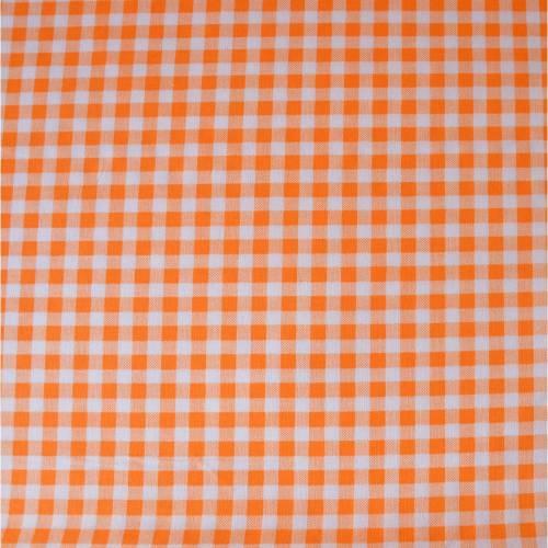 Stoff Baumwollstoff großkariert orange