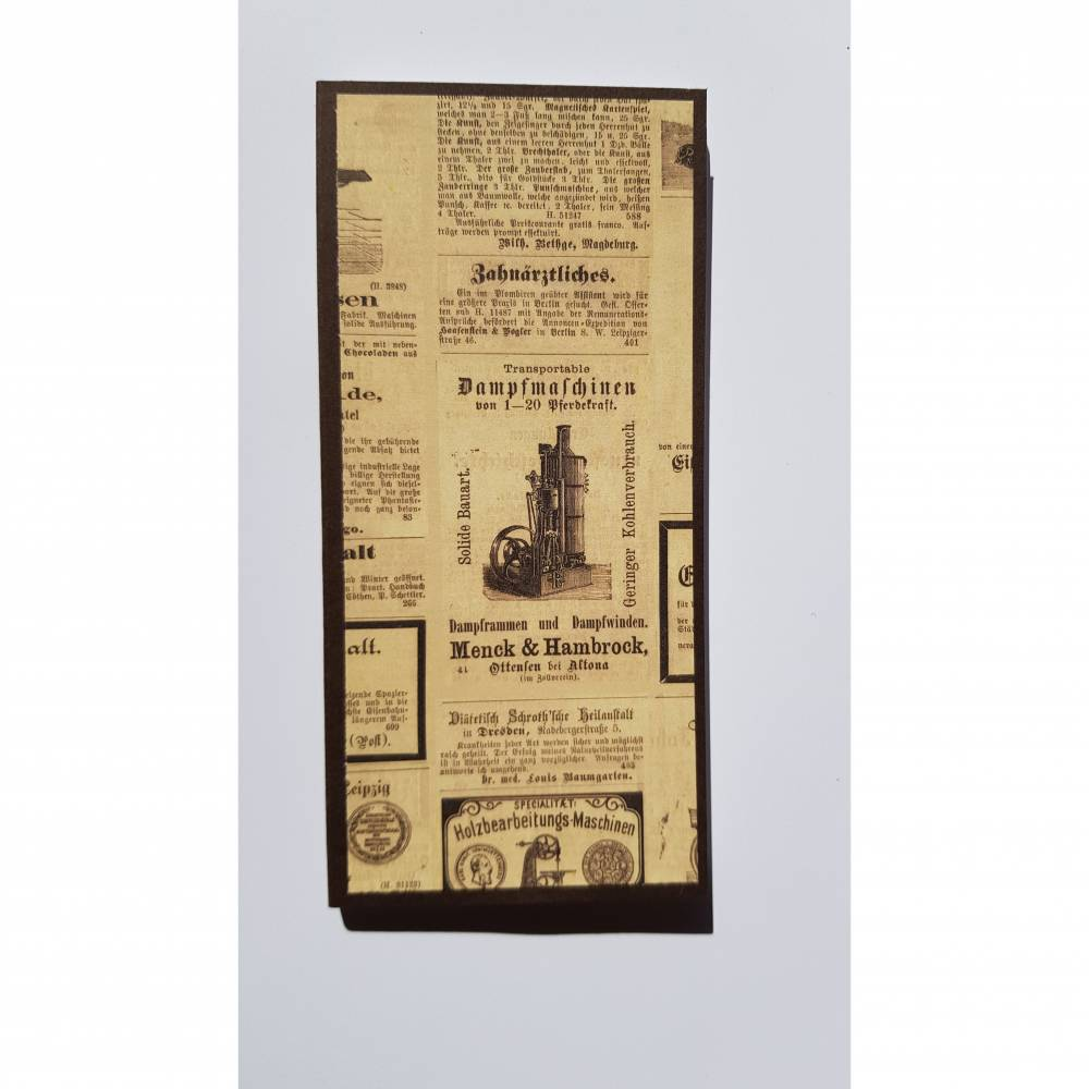 "Kellnerblock ""Vintage-Zeitung"" Bild 1"