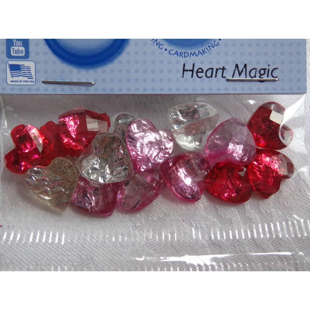 Dress it up Buttons  Herzen   (1 Pck.)    Heart Magic Bild 1