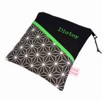 eReadertasche eBook Reader Tablet Tasche Hexagon schwarz weiß, personalisierbar, Maßanfertigung bis max. 10,9 Zoll, z.B. für Tolino Vision 5 Kindle Paperwhite Sony PRS T3 Bild 7