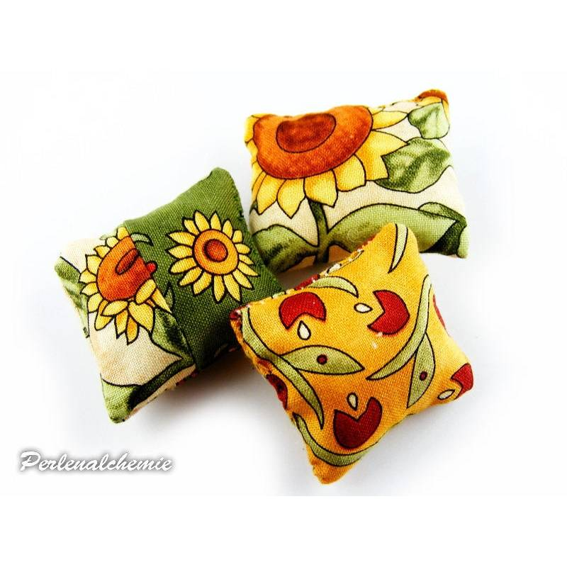 Miniaturen Puppenhaus Kissenset Sonneblumen Bild 1