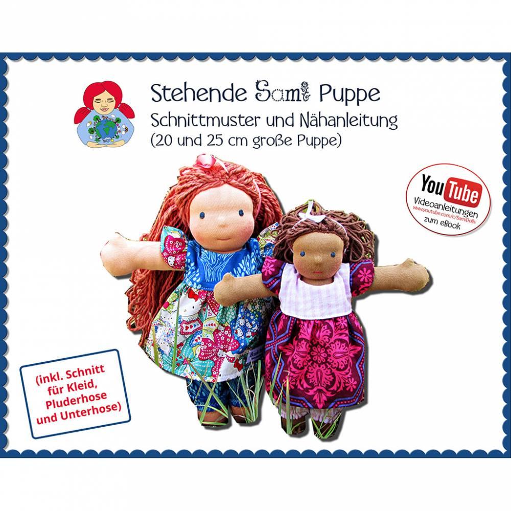 Stehende Stoffpuppe Waldorfpuppe in 2 Größen • Schnitt & Anleitung PDF   Sami Dolls eBooks Bild 1