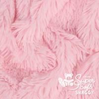 1x Zotteliger Langhaarplüsch – 20 mm SuperSoft SHAGGY rosa Bild 1