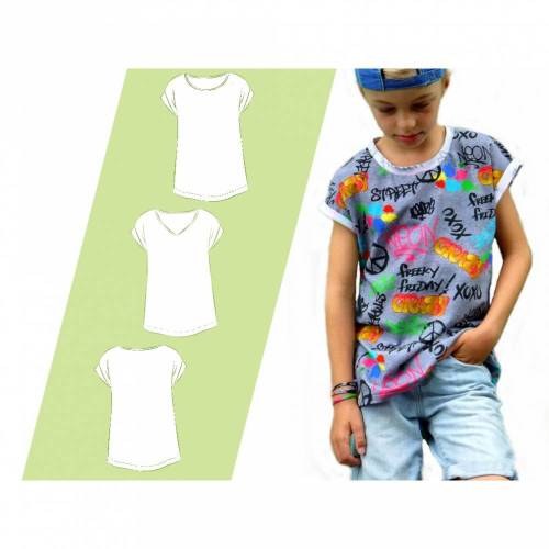 Schnittmuster Ebook Nähanleitung Kindershirt Kids Summer Boy