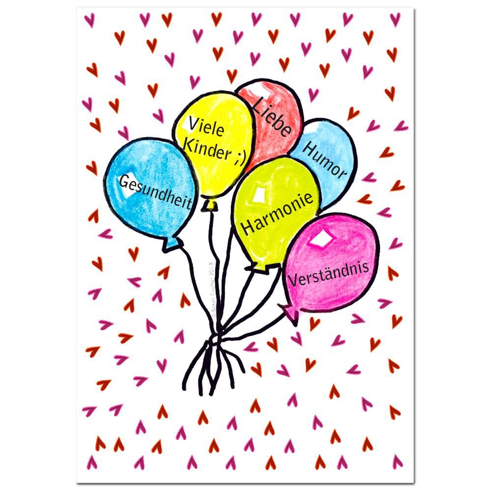 Glückwunschkarte Hochzeitswünsche inklusive