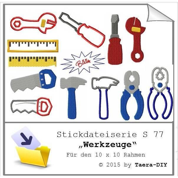 Stickdateiserie Werkzeuge S77 Bild 1