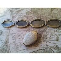 2 ovale Medaillons für 4 Bilder -bronze- Bild 1