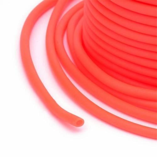 """1.50 Meter / Gummischlauch """"hohl"""" / 2 mm / orange"""