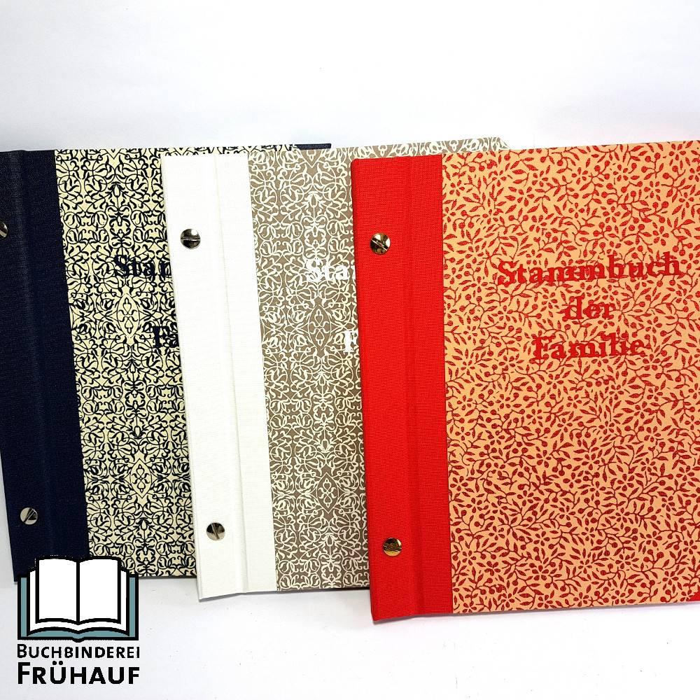 Stammbuch der Familie DIN A5 verschiedene Farben Bild 1