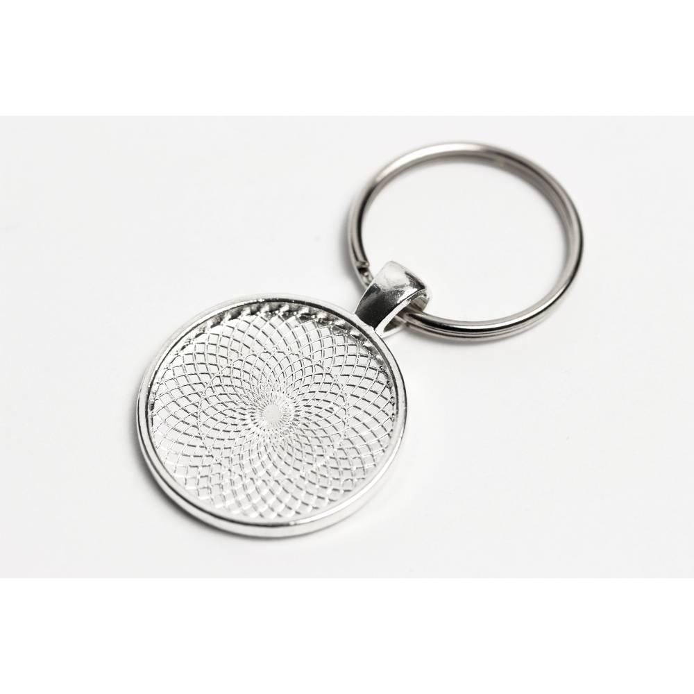 Schlüsselanhänger mit 25mm CabochonFassung Bild 1