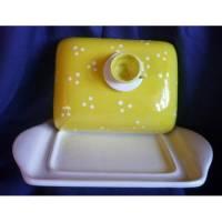 Butterdose  Sonnenaufgang,Frühstück,Tasse,Gelb, Bild 1