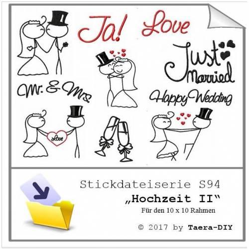 Stickdatei  Stickmuster Hochzeit S94