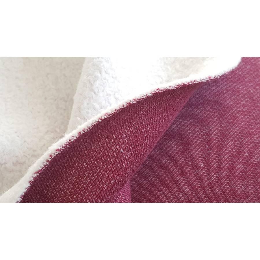 Doubleface-Sweat/Teddy Wintersweat meliert in himbeere, 100% Baumwolle Bild 1