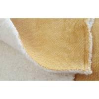 Doubleface-Sweat/Teddy Wintersweat in senf meliert, 100% Baumwolle Bild 1