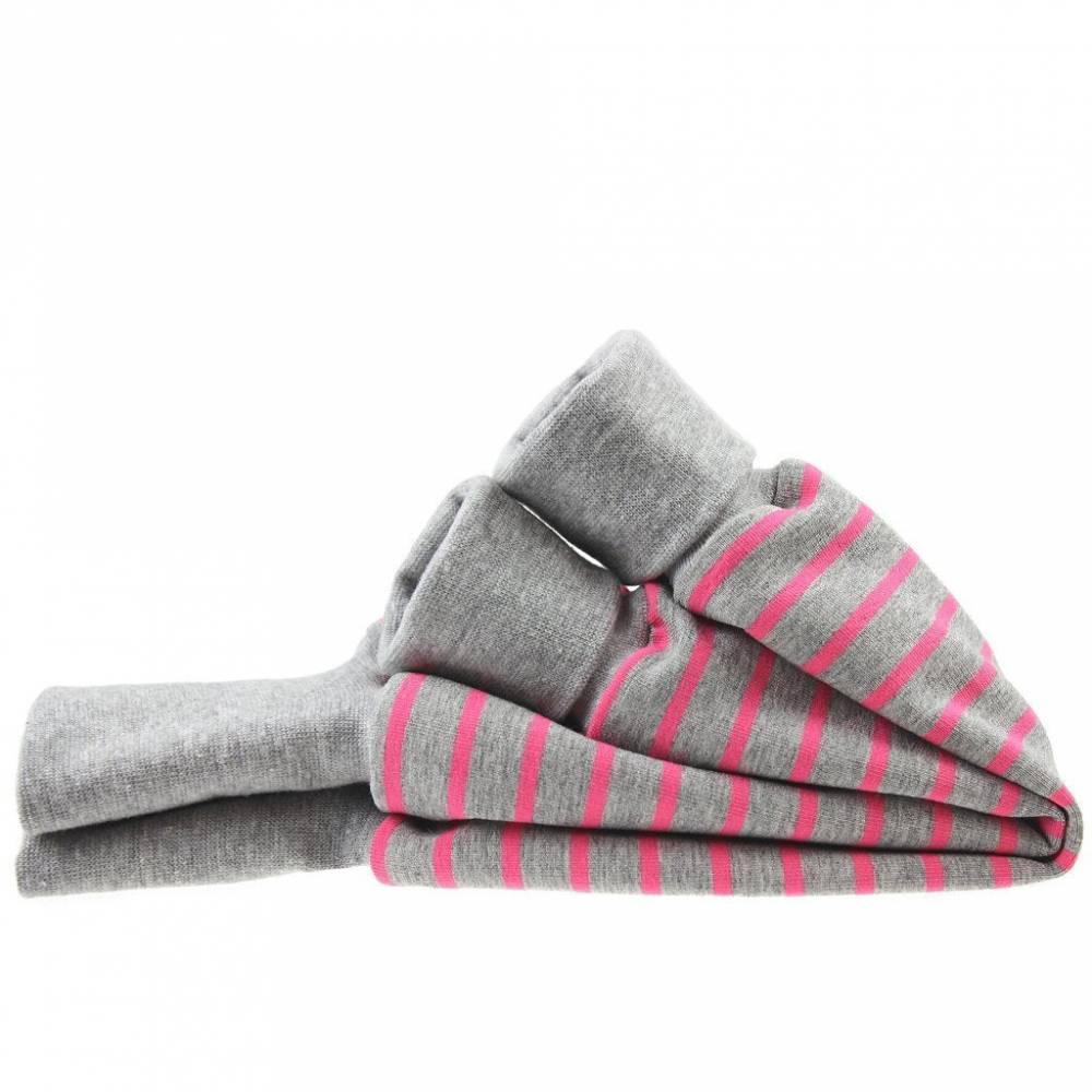 "Pumphose ""Streifen grau-pink"" Bild 1"