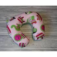 Kinder Nackenhörnchen / Reisekissen Tiere rosa Bild 1