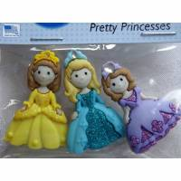 Dress it up Knöpfe    Prinzessin    (1 Pck.)      Pretty Princesses     Kinderknöpfe Bild 1