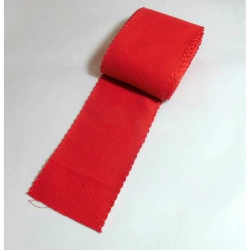 Stickband Band rot 1 Meter lang, 7,5 cm breit  Kreuzstich