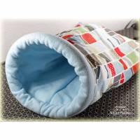 Kuschelsack für Katzen mit festem Einstieg, Bett für Katzen oder kleine Hunde, Katzenkissen, Katzenbett, Katzenkörbchen, Bild 1