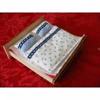 Miniaturen Puppenhaus Bettenset für Doppelbett - Auswahl Bild 1