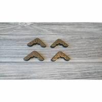4 Stück Buchecken bronze Ornamente Bild 1