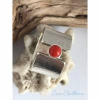 Ring Silber Koralle Bild 1