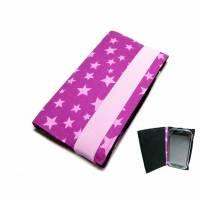 """aufklappbare Handyhülle Star lila rosa Smartphonehülle Handytasche Flip Case, Maßanfertigung bis 6,9"""" Smartphones /  Bild 1"""
