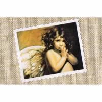 Label ♥ Shabby Engel Kind ♥ Vintage Applikation Stoffbild - 202 Bild 1