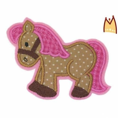 "Applikation ""Pony Vichy pink"""