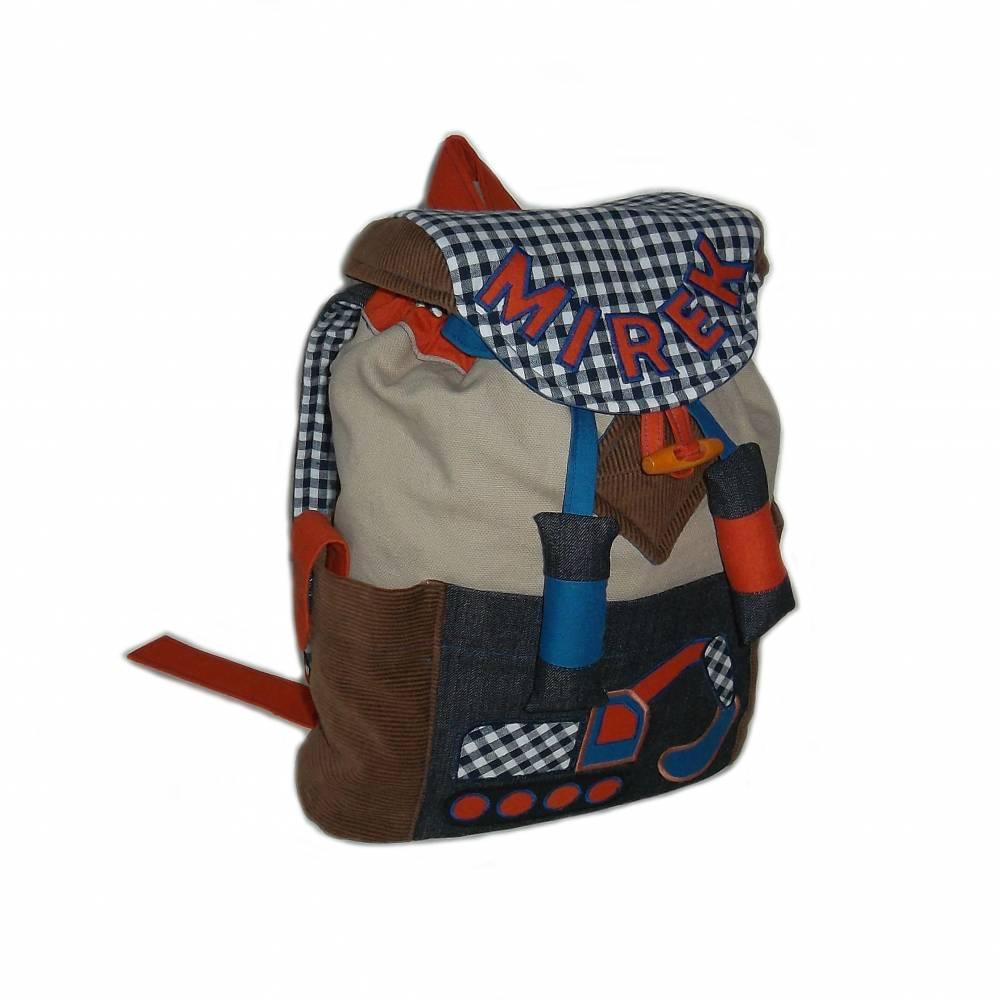 Kinderrucksack / Kindergartenrucksack Bagger für Jungen Bild 1