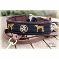 Halsband RHODESIAN RIDGEBACK mit Zugstopp für deinen Hund, Hundehalsband bestickt, Martingale Bild 1